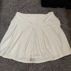 "Nike Flex Women's 15"" Lace Golf Skirt Sail Ivory"